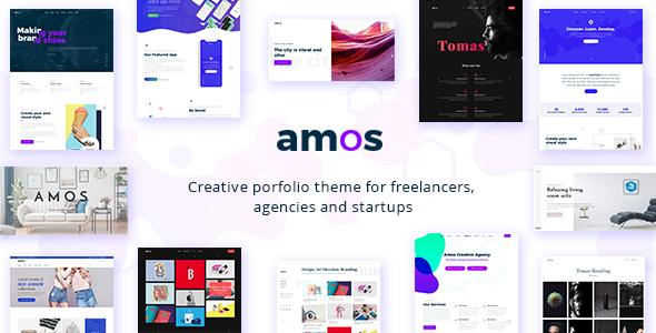 Amos v1.1 — Creative WordPress Theme for Agencies