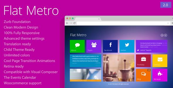 Flat Metro v2.1 — Responsive WordPress Theme