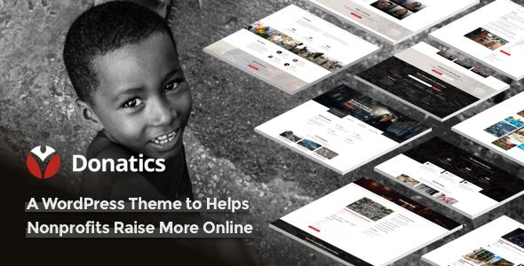 Donatics v1.1.5 — Charity & Fundraising WordPress Theme