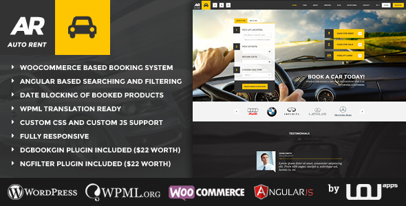 Auto Rent v4.0.2 — Car Rental WordPress Theme