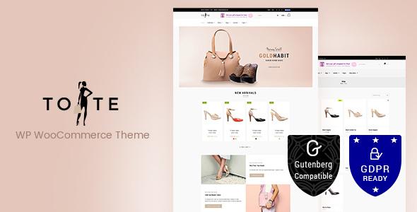 Tote v1.3 — WordPress WooCommerce Theme