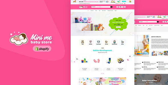 Mini Me v1.0 — Baby Care Products Sectioned Shopify Theme