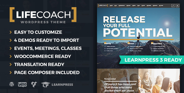 Life Coach v2.2.1 — WordPress Theme