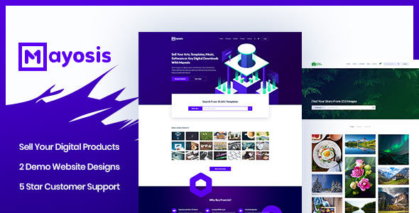 Mayosis v2.5.0 — Digital Marketplace WordPress Theme