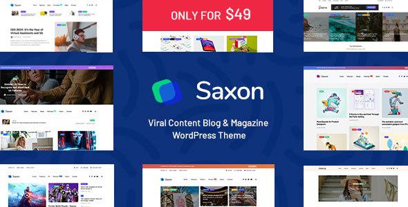Saxon v1.5.1 — Viral Content Blog & Magazine Theme
