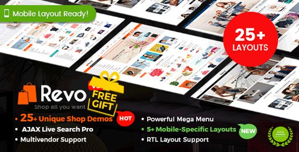 Revo v3.4.1 — Multi-purpose WooCommerce WordPress Theme