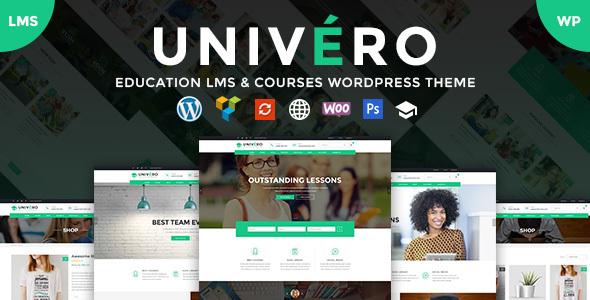 Univero v1.1 — Education LMS & Courses WordPress Theme