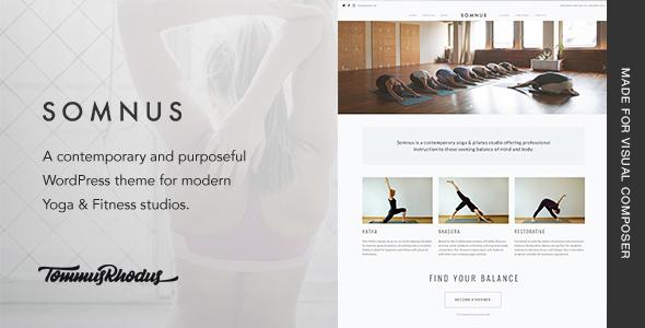 Somnus v1.0.7 — Yoga & Fitness Studio WordPress Theme