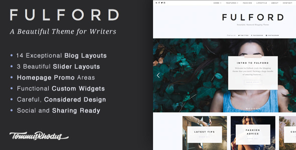 Fulford v1.0.8 — Responsive WordPress Blogging Theme
