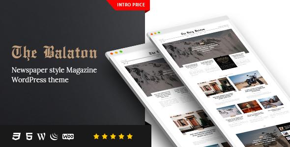Balaton v1.0.9 — Newspaper style Magazine WordPress