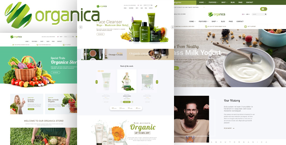 Organica v1.1 — Organic, Beauty, Natural Cosmetics, Food, Farn and Eco Opencart 2.3 & 3.x