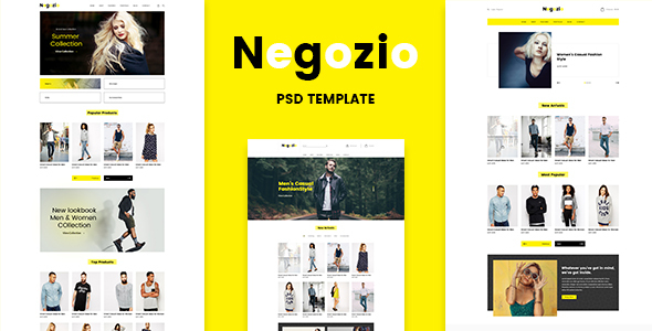 Negozio — Multi-purpose eCommerce PSD Temlate