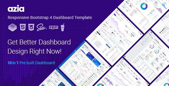 Azia — Responsive Bootstrap 4 Dashboard Template