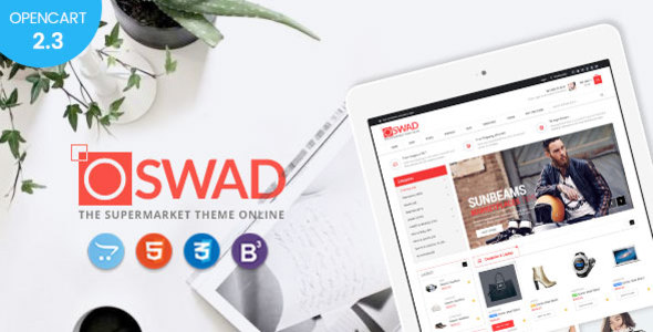 Oswad — Responsive Supermarket Online Opencart 2.3 Theme