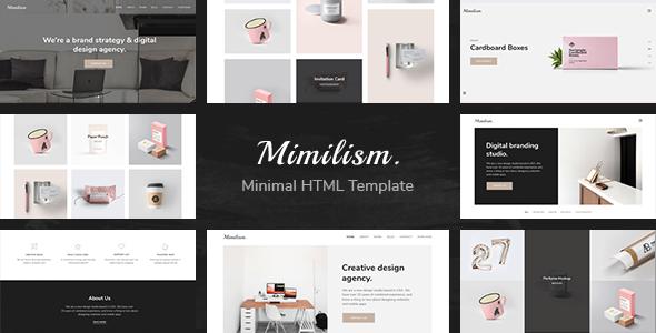 Mimilism — Clean & Minimal Portfolio HTML Template