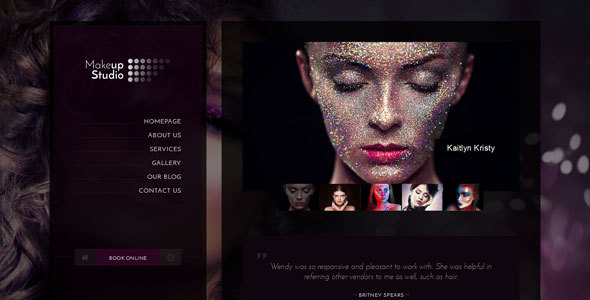 Makeup — Barbershop, Make-up, Spa, Beauty, Manicure HTML Template