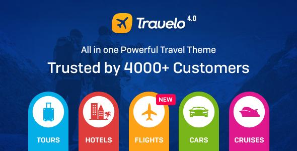 Travelo v4.0.0 — Travel/Tour Booking WordPress Theme