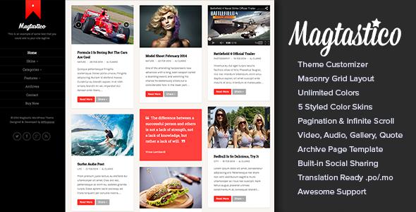 Magtastico v1.5 — Responsive Masonry Blog Theme