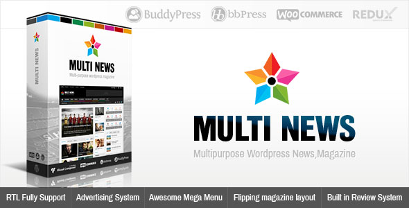 Multinews v2.6.4.1 — Multi-purpose WordPress News, Magazine
