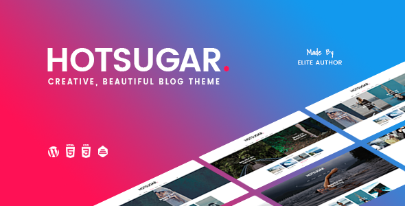 HotSugar v1.0.5 — Responsive WordPress Blog Theme
