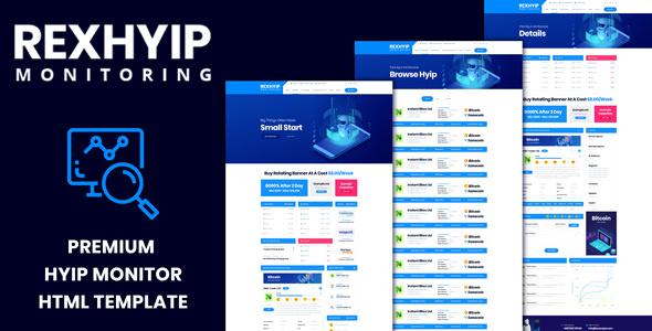 RexHYIP — HYIP Monitor & Listing HTML Template