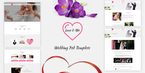 Love & We — Wedding PSD Template
