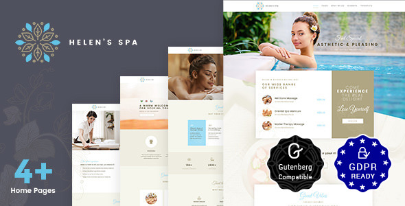 Helen's Spa v1.6 — Beauty Spa, Health Spa & Wellness Theme
