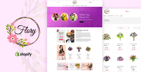 Flory — Florist, Flower Bouquet, Gifts Shopify Theme