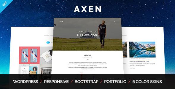 Axen v1.0.4 — Personal Portfolio WordPress Theme