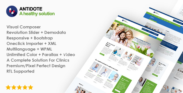 Antidote v1.1.7 — Health & Medical WordPress Theme