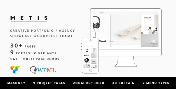 Metis v1.4.4 — Portfolio / Agency WordPress Theme