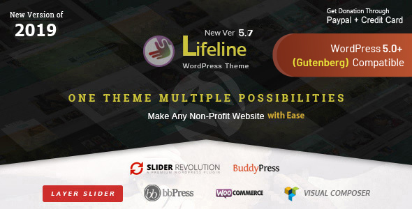 Lifeline v5.7.1 — NGO Charity Fund Raising WordPress Theme