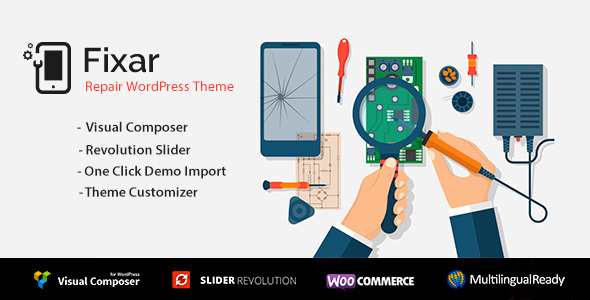 Fixar v1.2.3 — Phone & Computer Repair Theme