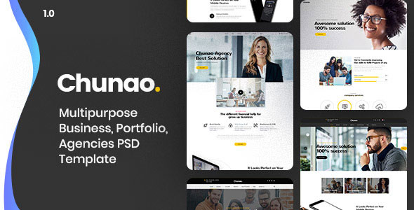 Chunao — Multipurpose Business PSD Template