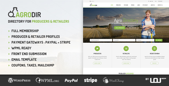 Agrodir v1.1.0 — Directory for Producers & Retailers