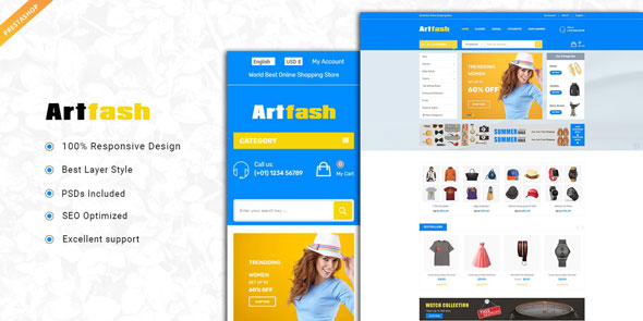 Artfash — Responsive PrestaShop Theme
