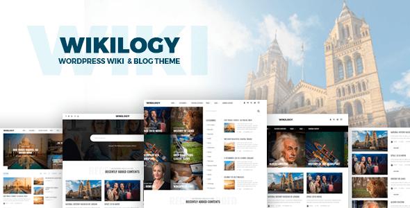 Wikilogy v1.2.1 — Wiki & Blog WordPress Theme