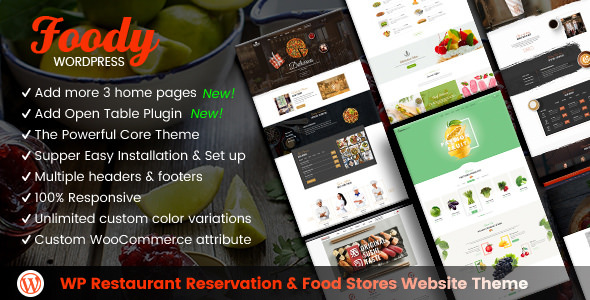 Foody v1.5.0 — Restaurant Reservation & Food Store Theme