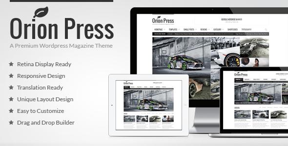 Orion Press v2.9 — Retina and Responsive Magazine Theme