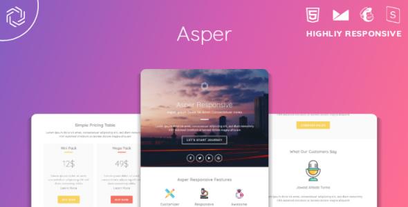 Asper — Responsive Multipurpose Email Template