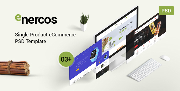 Enercos — Single Product eCommerce PSD Template