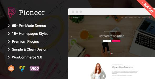 Pioneer v1.0.6 — Multi-Concept Corporate WordPress Theme
