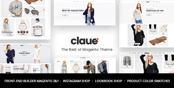 Claue v1.7.6 — Clean, Minimal Magento 2 and 1 Theme