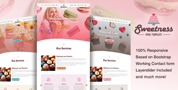Sweetness — One Page HTML Template