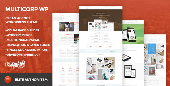Multicorp WP v2.1 — Clean Agency WordPress Theme