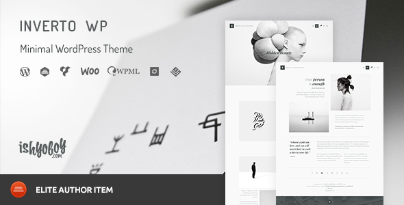 Inverto WP v1.7 — Minimal WordPress Theme