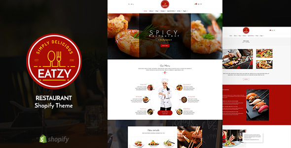 Eatzy v1.1 — Restaurant Sectioned Shopify Theme
