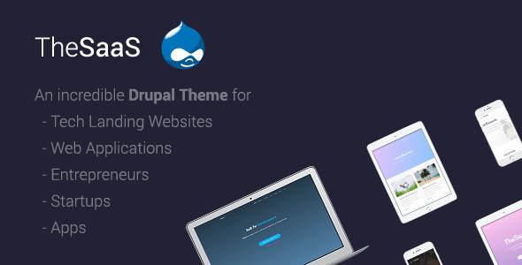 TheSaaS v1.5 — Responsive SaaS, Software & WebApp Drupal 8 Themes