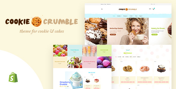 Cookie Food v1.1 — Bakery, Cookie, Food Products Shopify Theme