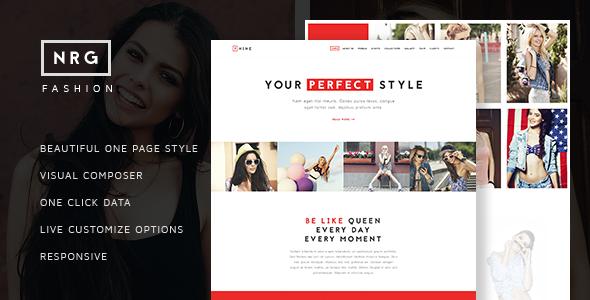 NRG Fashion v1.4 — Model Agency One Page Beauty Theme